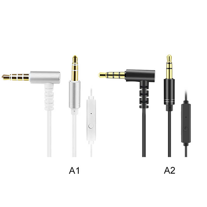 Male to Male 3.5mm Auxiliary Audio Jack to Jack Cable 90 Degree Right Angle
