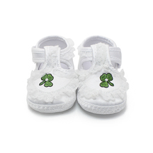 2016 Spring/Autumn Design Lucky Grass Flower Baby Shoes Infant Toddler First Walkers Cute Soft Sole Girls