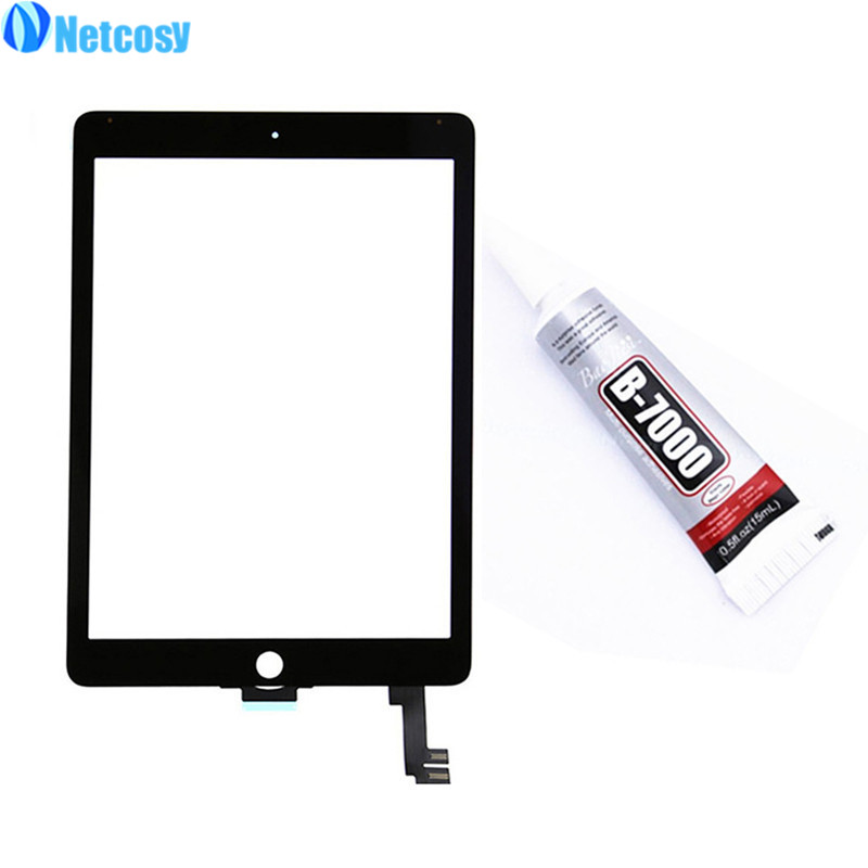 Netcosy For ipad Air 2 A1567 A1566 Touch screen digitizer panel Repair Parts For ipad 6 Touch screen & 15ml B-7000 Glue for hg2g ss22vf w hg2g ss22vf s hg2g ss22vf b touch screen panel digitizer