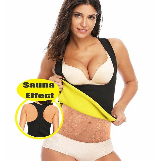 4b5d48f89 NINGMI HOT Vest Waist Trainer Body Shaper Slimming Sweat Sauna Suit Shirt  Tank Top Women Neoprene Latex Shapewear Fitness Tights