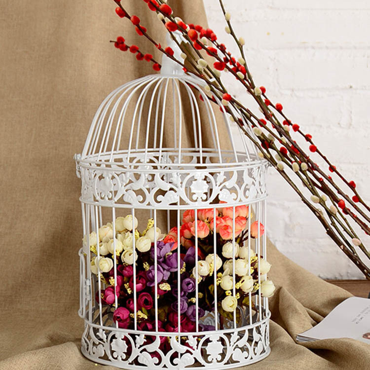 Wedding Gift Card Cage : cage for birds Classic White Decorative Bird Cage Wedding Gift Card ...