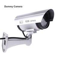 Fayele Security CCTV Simulation Fake Camera Bullet Dummy Camera Waterproof Outdoor Surveillance Dummy Camera With LED