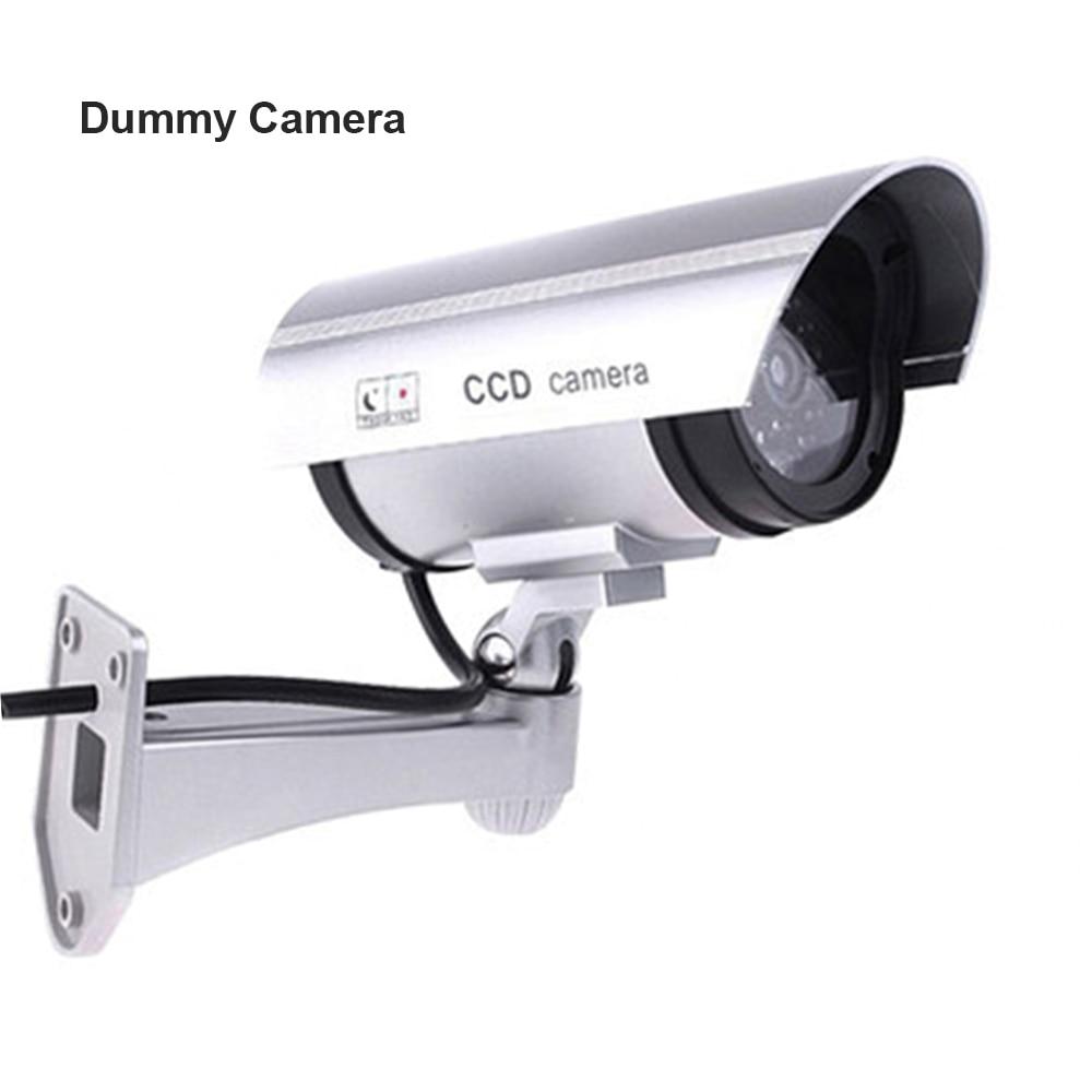 купить Fayele Security CCTV Simulation Fake Camera Bullet Dummy Camera Waterproof Outdoor Surveillance Dummy Camera With LED Light