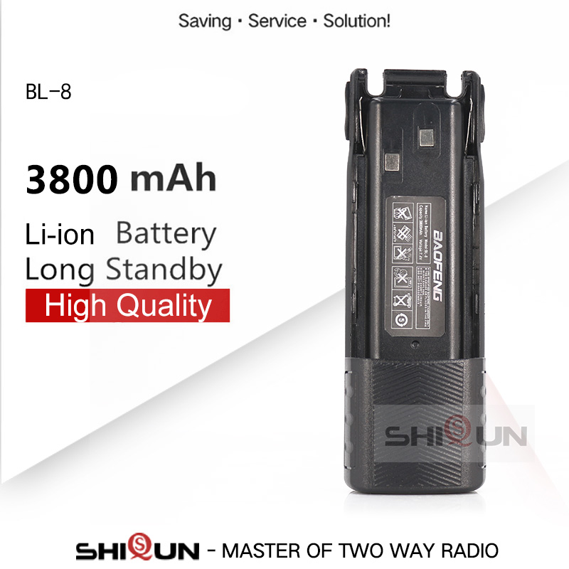 BL-8 Battery Enlarge 3800mah Optional 2800mAh Camo Baofeng Uv-82 Battery For UV-82HP UV82 Plus UV-8D UV-82WX UV-89 UV 82 Battery
