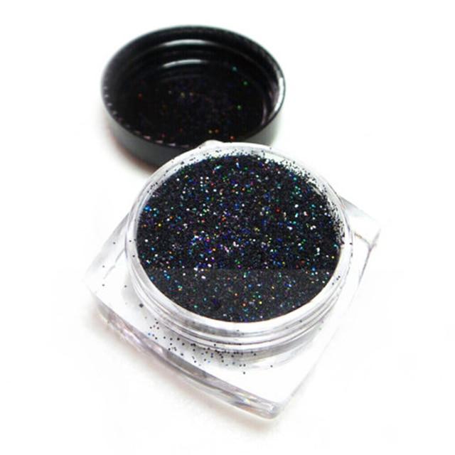 5g/pot Pure Black Ultra Sparkle Glitter .008(1/128)Holographic Glitter Powde~Resin  Glitter~Nail Glitters Crafts & Hobbies 0.2mm