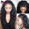 Unprocessed Virgin Peruvian Lace Front Wig 150 Density Loose Wave Glueless LaceFront Wigs Human Hair For Black Women Three Part