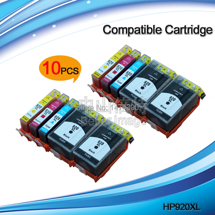 10 Pack compatible ink cartridge for HP920XL with Chip show ink level for HP OfficeJet  6000 6500 6500A 7000 7500 7500A