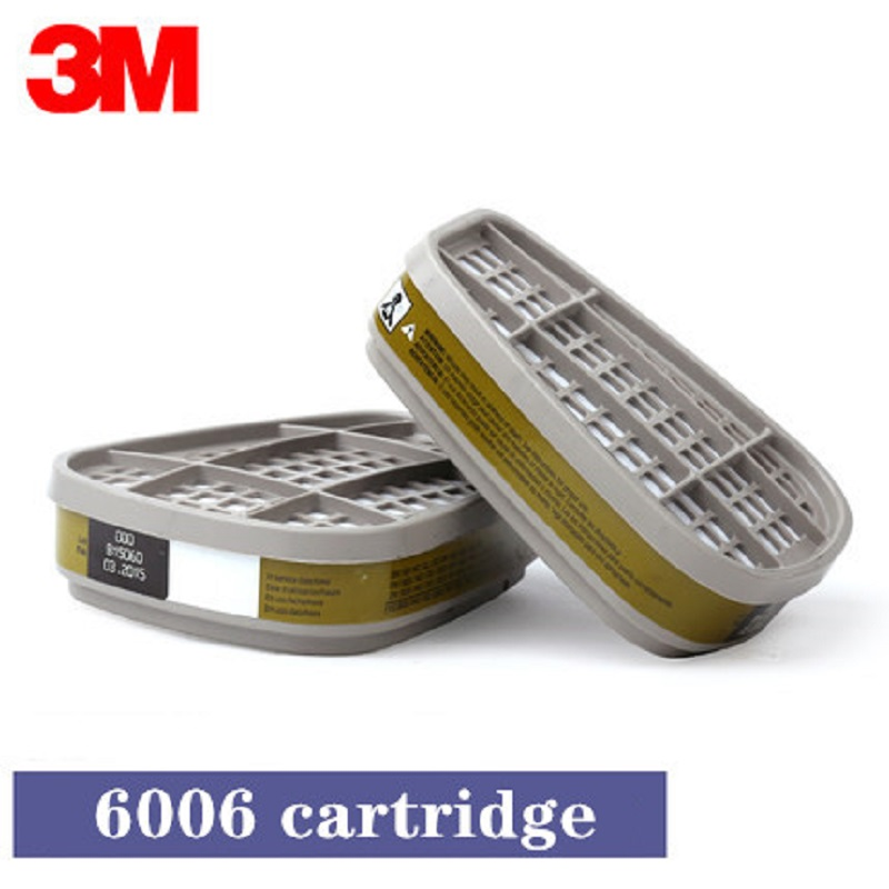 <font><b>3M</b></font> <font><b>6006</b></font> Gas Mask Fittings Low-Maintenance Multi Gases Vapor Cartridge Air Purifying Respirator Work with <font><b>3M</b></font> 6200 7502 6800 Mask image