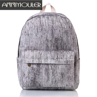 Annmouler Casual Women Backpack Large Capacity Canvas Rucksack 19 Colors Daypack High Quality School Bag For