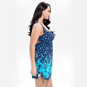 Image 5 - 9XL 13XL Plus Size Women Print Tankini Set Sexy Swimsuit Large Waist Swimwear Sports Suits Beachwear Bathing Suit Beach Dress
