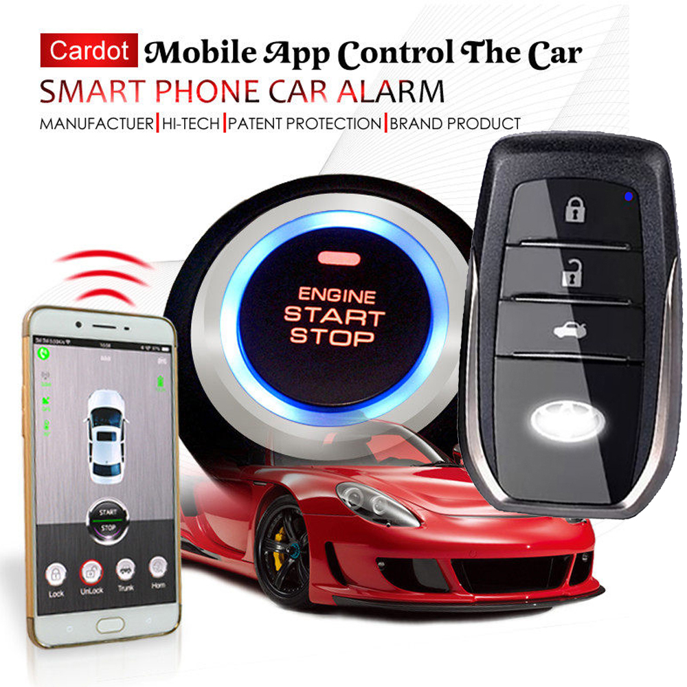 gps tracker car security alarm system with auto central lock feature remote start stop engine outside of the car mobile app