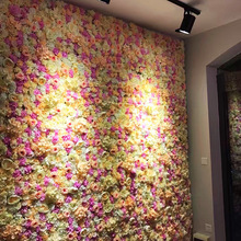 40x60cm Artificial Silk Rose Artificial Flower Wall Panels for Decor Romantic Wedding Photo Backdrop Decoration DIY Stage Show