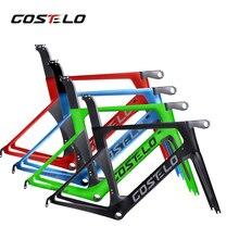 2017 Nuevo monocoques marco del camino del carbón de la bicicleta, tallo, tenedor con tija, tecnología de nueva generación, costelo bici velo envío gratis