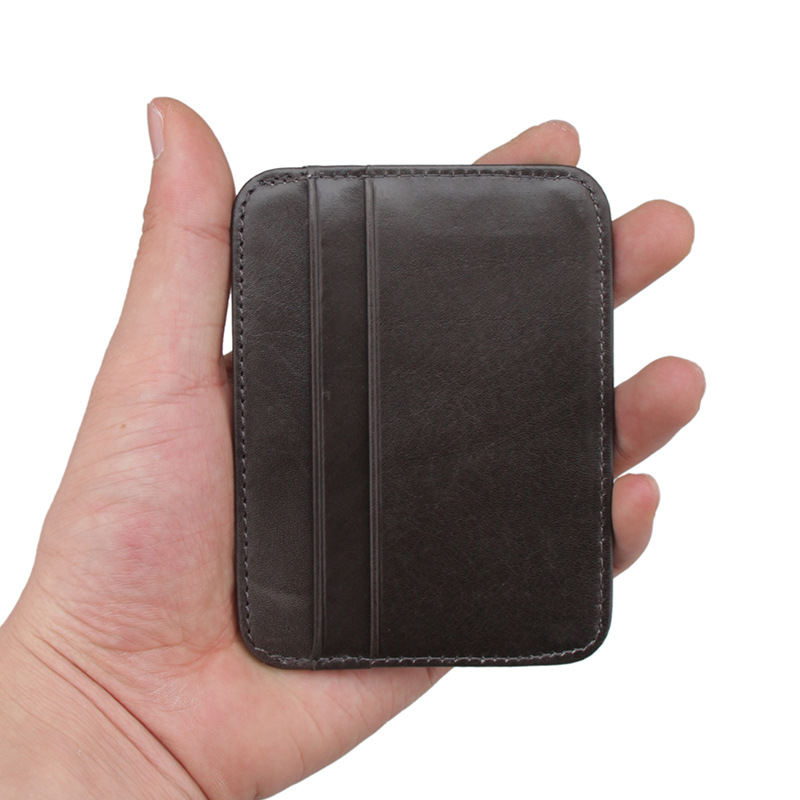 BOVIS Brand Men Credit Card Holder Leather Travel Business Card ...