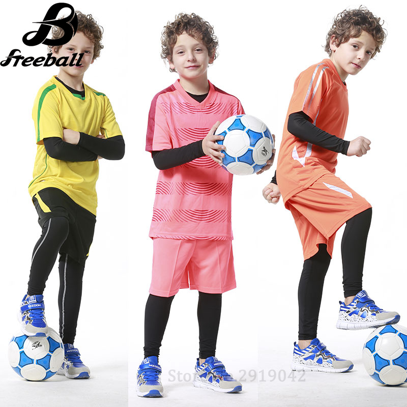 d42e2960d6 Aliexpress.com : Buy 2017 Kids youth long compression runing pants jerseys  survetement football Lycra soccer training shirts skinny tights leggings  from ...