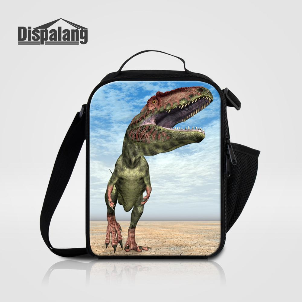 Мужские Термо-холщовые сумки для ланча, лисы, волка, динозавра, змеи, для мальчиков, сумка-холодильник для еды, пикника, Детская маленькая сумка-Ланч-бокс на молнии для школы - Цвет: Lunch Bag16