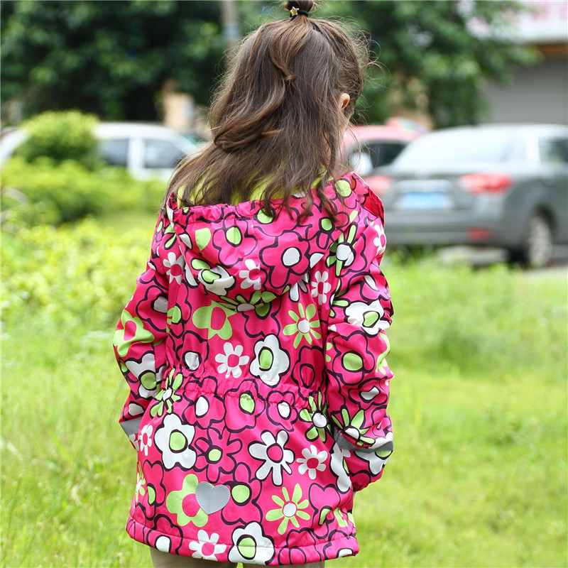 Waterproof Windproof Children Outerwear Baby Girls Jackets Child Coat Warm Polar Fleece For 3 12T Spring Autumn Winter in Jackets Coats from Mother Kids