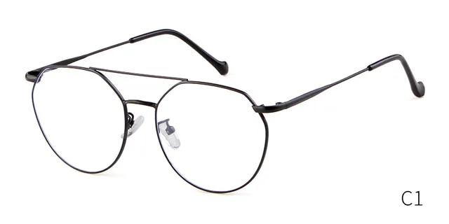 STORY fashion round glasses women men 2019 brand vintage kickoff anti-blue light doulble bridge polygon frame eyewear PS9806T