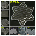 2pcs/lot Bead Pegboard Square Round heart star Shape Puzzle Template for 5mm Perler Beads Creative DIY Educational Toys GYH