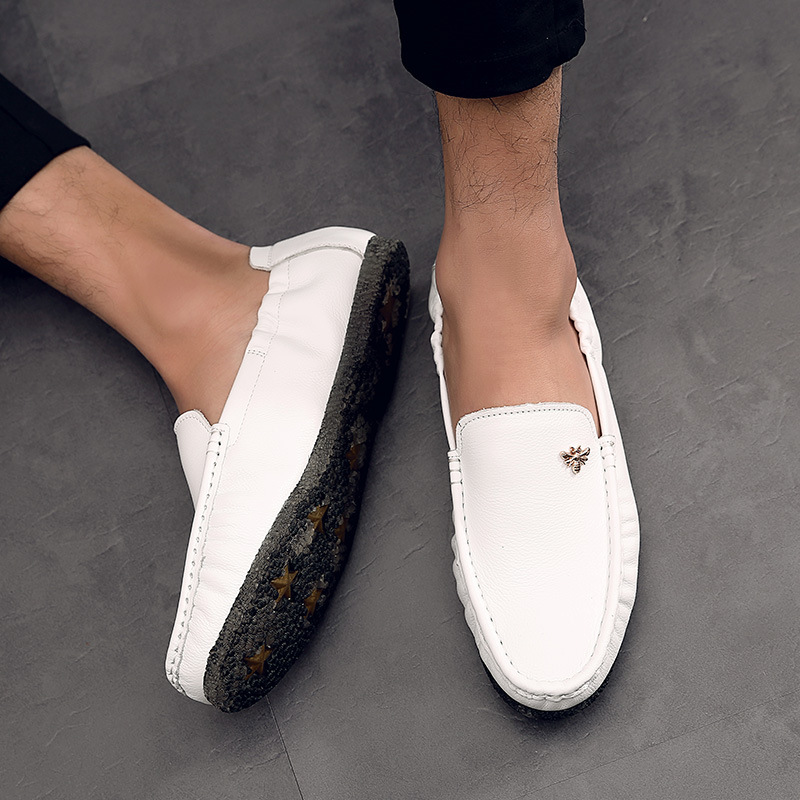 new fashion men's genuine leather shoes 2017 summer men driving shoes slip-on loafers flats casual shoes man moccasines T042107 big size 39 48 men flats summer genuine leather loafers breathable driving shoes moccasines slip on male casual shoes xk032808