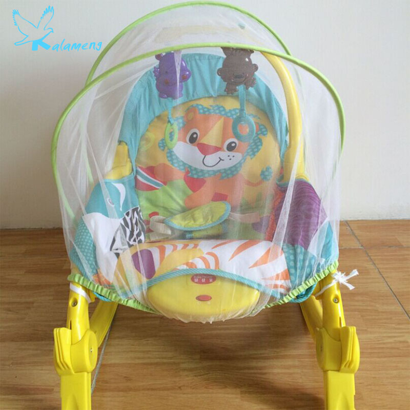 Kalameng Baby Rocking Chair Mosquito Net Swing Baby Electric Cradle Bed Lying Child Chair Swing Mosquito Net