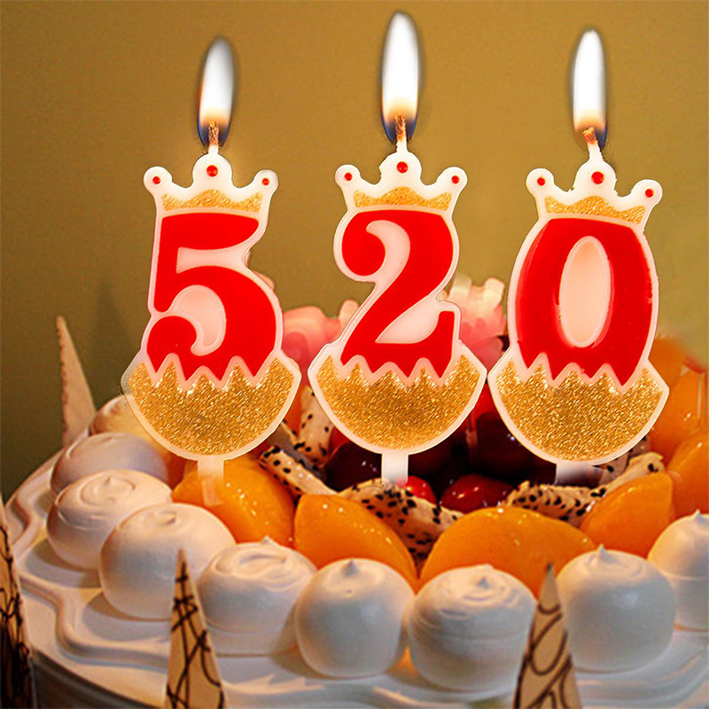 1st Wedding Anniversary Decoration Ideas At Home: 1Pc Crown Number Cake Candle Birthday/Christmas