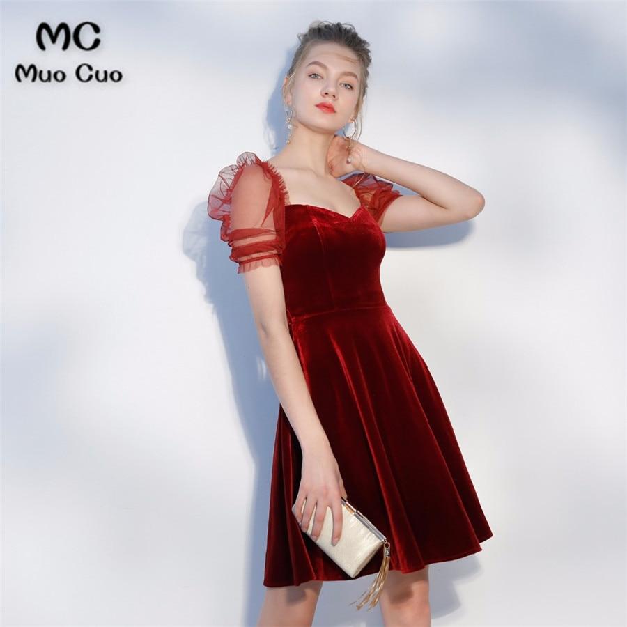 a0bc4140b30 ... Velvet Homecoming Cocktail Graduation Party Dresses.  Real-Sample-Fashion-Burgundy-Taffeta-V-Neck-Backless- ...