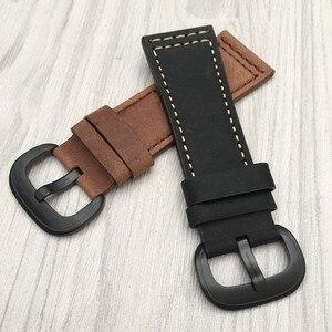 Image 4 - Nuovo di Alta qualità Cinturino In Pelle di Vitello Italiana con Spille Fibbia Nero Marrone SevenFriday M1