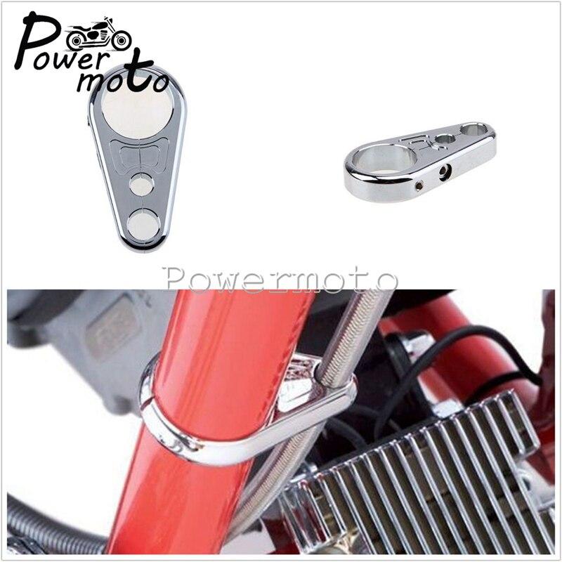 "Silver Color Metal Motorcycle 1/"" 25mm Handbar Brake Clutch Cable Wire Clamp Clip"