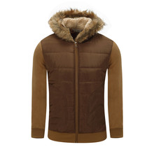 2017 new autumn and winter clothing men's hooded coat with fur collar coat thick coat boy warm work office