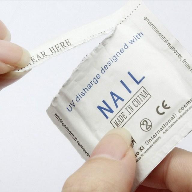 Fashion 200pc Foiled UV Gel Nail Polish Remover Wraps Pad Nail Art Cleaner Acetone GUB#