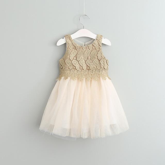 85aa983cab553 Bébé Filles Crochet Dentelle Tulle Robes Enfants Filles Princess tutu Robe  Fille vêtements de Printemps Robe
