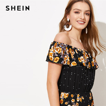 Black Solid Off the Shoulder Glamorous Maxi Jumpsuits