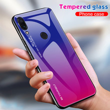 Gradient Tempered Glass Case For Xiaomi Redmi 7 Note 5 6 Pro Cover Protective Fundas Plus 7Pro Coque