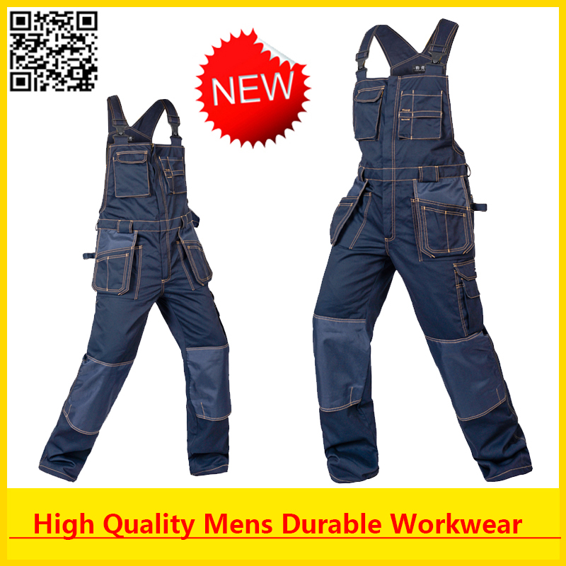 High Quality Men's cargo workwear work wear work overall  free shipping high quality summer light weight twill durable black cargo work pant long trousers mechanic workwear