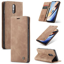 For Oneplus 7 Pro Luxury Magnetic business book phone case 1+7 oneplus 7 pro Slim PU Leather Mini Wallet Flip Stand Cover Case