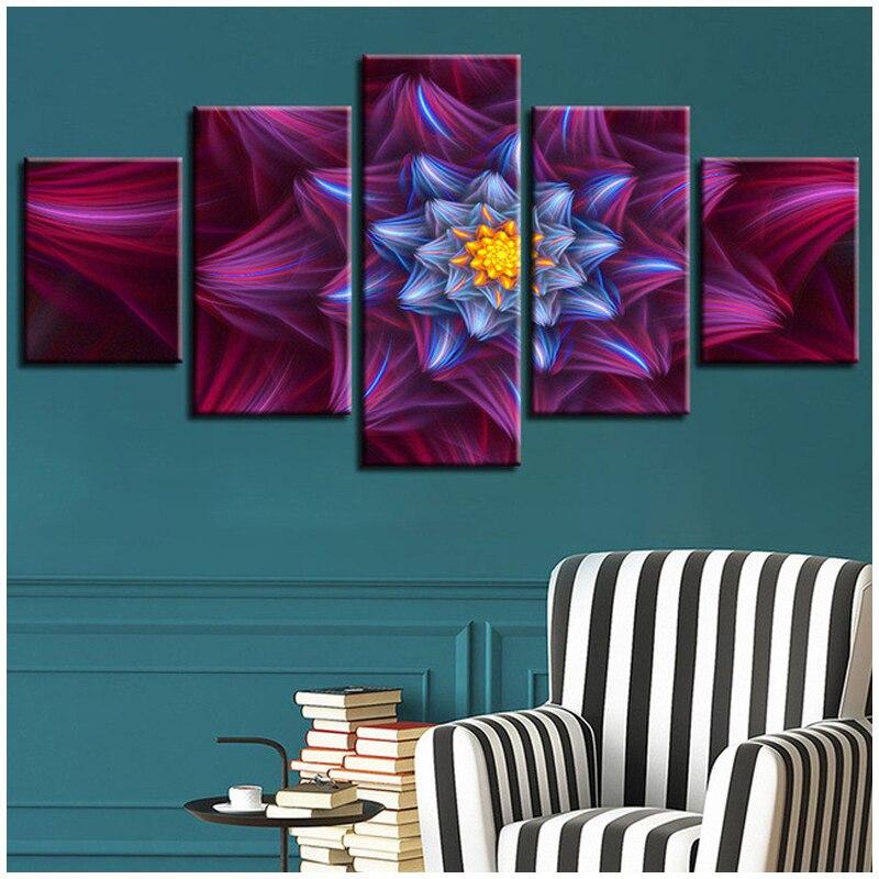 Diy 5D Diamond Embroidery Mandala Full Round Square Diamond Painting Cross Stitch Abstract flower 5pcs/set NeedleworkZP 1651