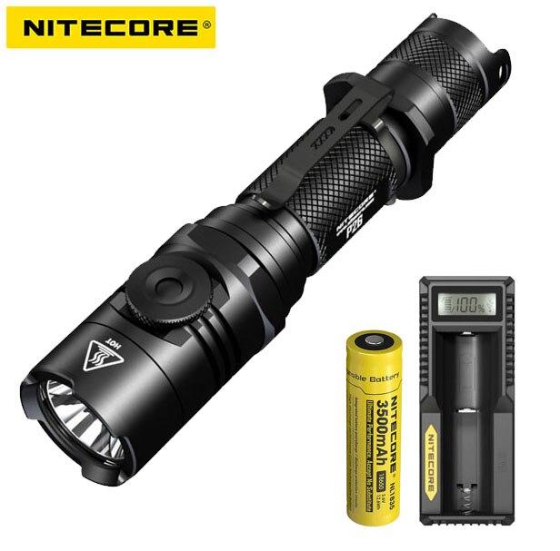2018 new Nitecore P26 1000Lm CREE XP-L HI V3 Led Rotary Switch Tactical Led Flashlight