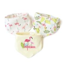3 шт. Фламинго детские нагрудники Сова brup ткань хлопок нагрудник для новорожденных для девочек мальчик Babador детское Кормление baberos bavoir slabbetjes bavette