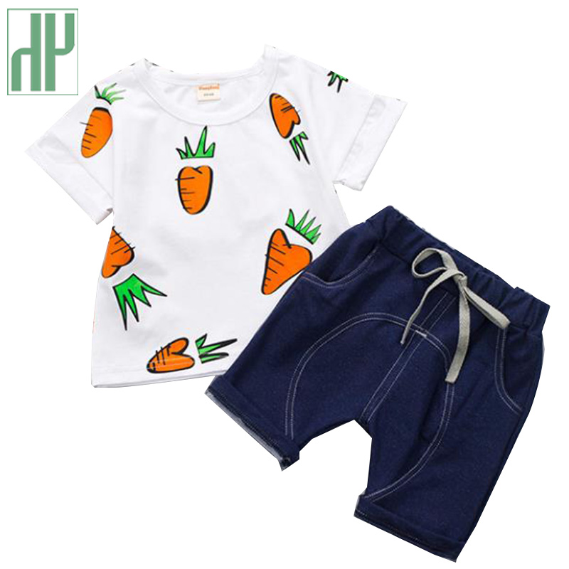 Baby Boy Summer Clothes Cartoon Children's Suit Clothes Girl O-neck Pullover Boutique Kids Wear Toddler Outfits 1 2 3 Years