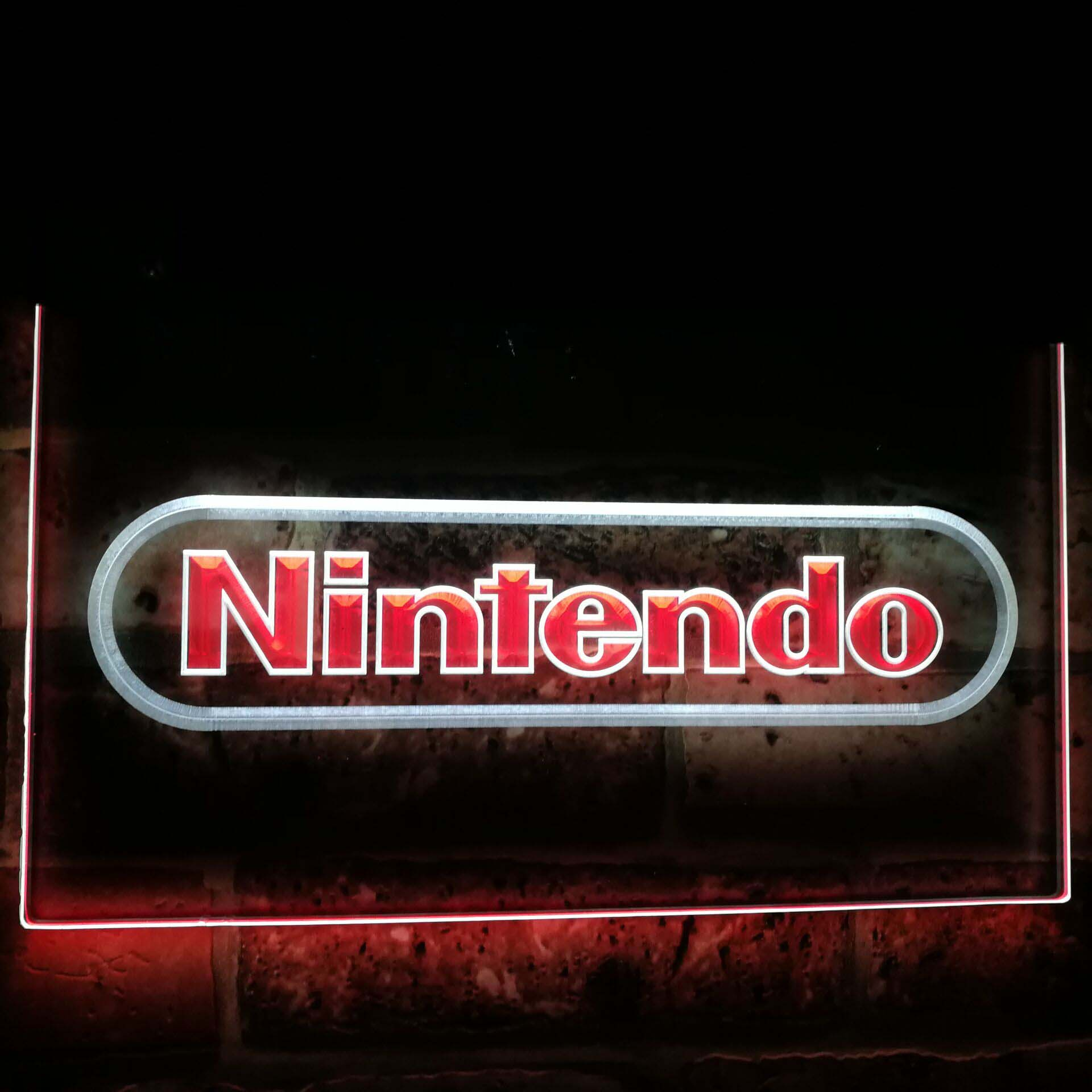 Nintendo Video Game Room Bar Decoration Gift Dual Color Led Neon Light Signs st6 e0021