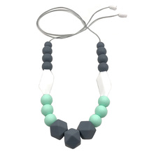 Women Jewelry Accessories Necklace Teething All- Pendant Handmade Silicone For Mom Beads Neck Decoration Baby