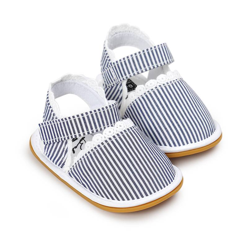 Spring and summer cotton cloth shoes 0-1-2 female baby toddler shoes soft bottom baby shoes princess off anti-slip