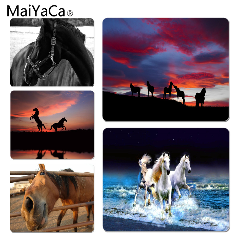 MaiYaCa Funny Horse Wallpapers Silicone Pad to Mouse Game Size for 180x220x2mm and 250x290x2mm Small Mousepad