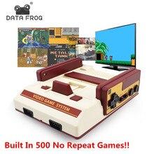 Veri Kurbağa Mini Oyun Konsolu Aile TV El Oyun Konsolları 8 Bit video oyunu Dahili 500 Hiçbir Tekrar çocuklar oyunları