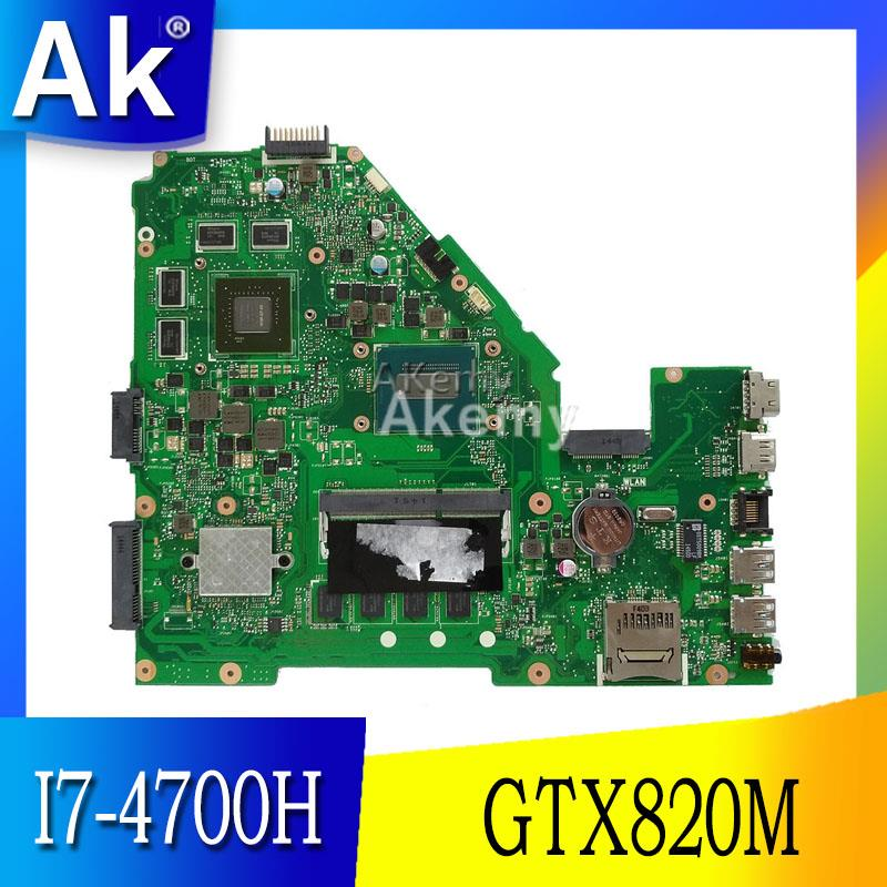 AK X550JD X550JK carte mère D'ordinateur Portable pour ASUS X550JD FX50J ZX50J A550J X550J Test carte mère d'origine I7-4700HQ 4 GO RAM GTX820M