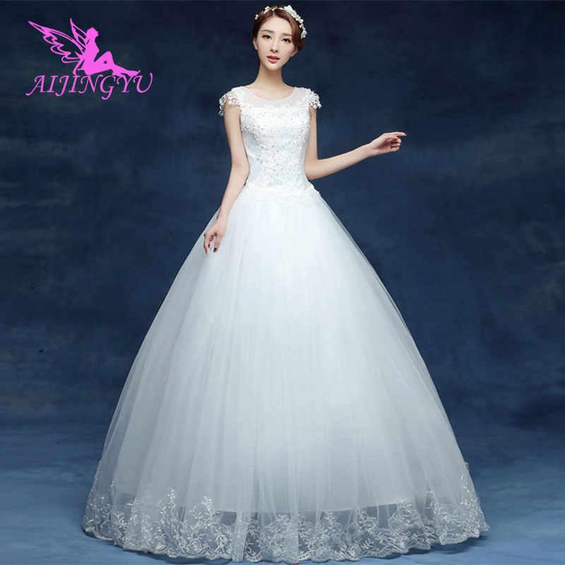 AIJINGYU חתונה שמלות ארוך המפלגה זול weddingdress 2018 לבוש הרשמי נשים אלגנטי WU127