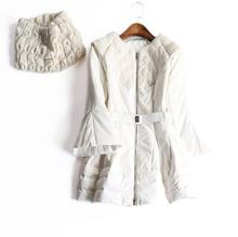 Europe and the United States ladies's new autumn 2016 Collar horn sleeve white duck down heat slim down jacket