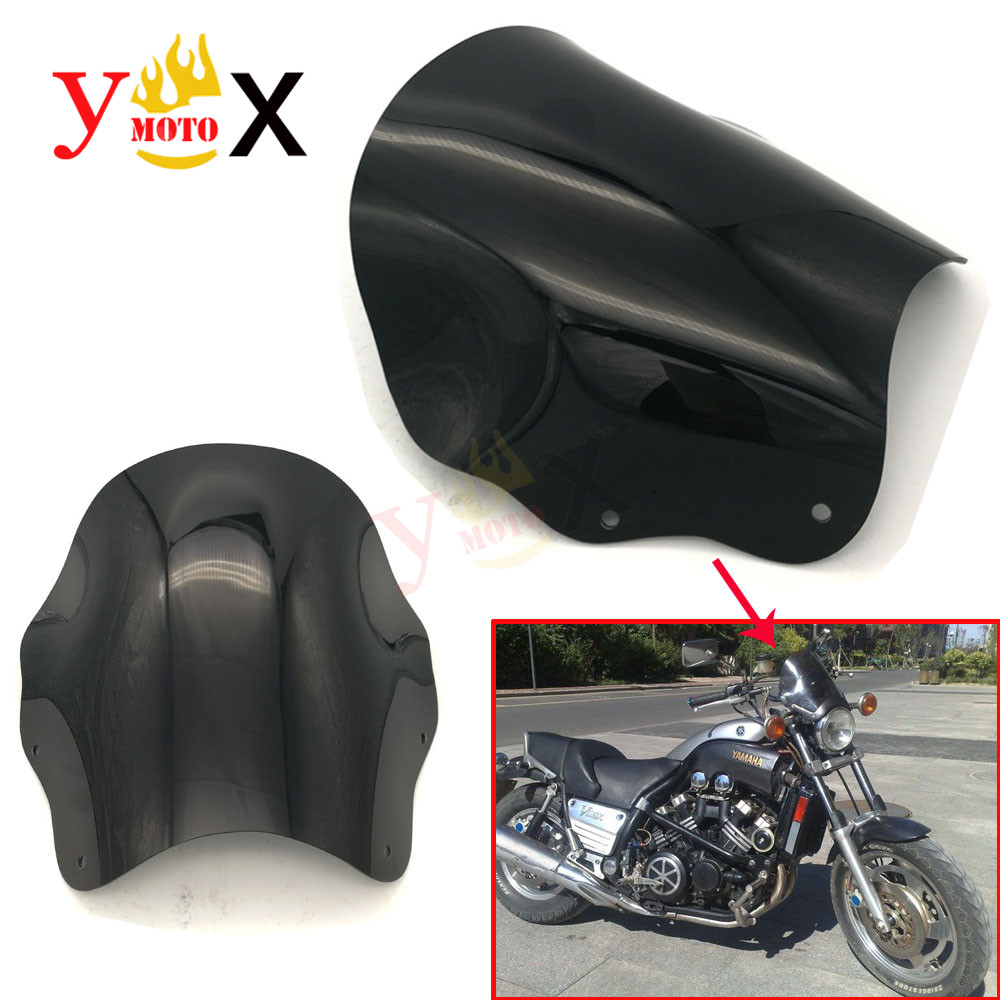 Motorcycle ABS Cruiser Front Windscreen Windshield Defector Airflow Glass For Yamaha Cruiser Vmax 1200 VMAX1200 V-MAX1200