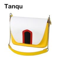 TANQU Colorful Obag Opocket Style EVA Pocket Plus Contrast Color Flap Magnetic Lock Fastener Short Chain Strap with Clip Closure